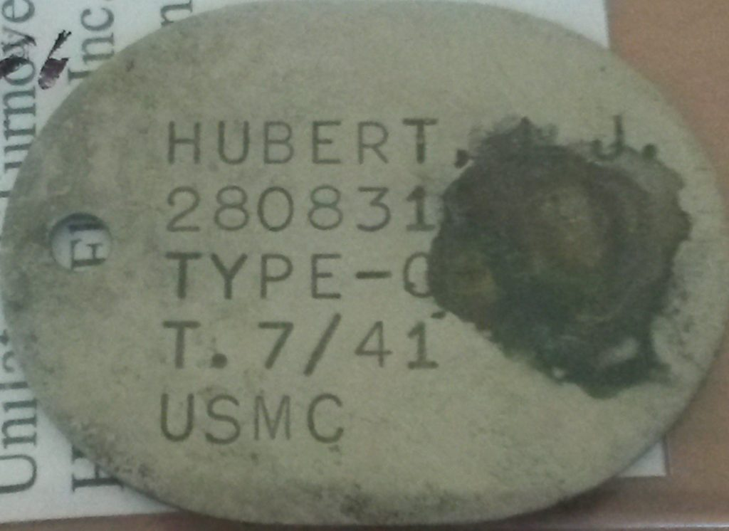 Hubert J.J.-dog tag-closeup